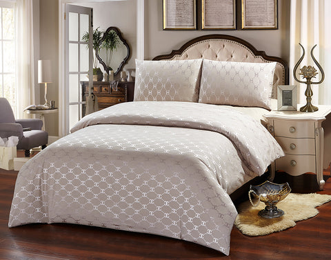 JA06G  JACQUARD/300 THREAD COTTON BEDDING SET (CHANNEL INFUSION)