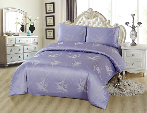 JA34 JACQUARD/300 THREAD COTTON BEDDING SET (PARIS INFUSION)