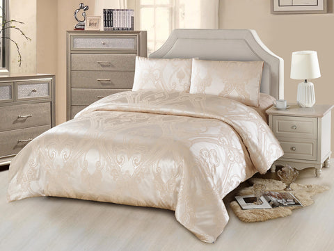 JA39 JACQUARD/300 THREAD COTTON BEDDING SET (CHANNEL INFUSION)