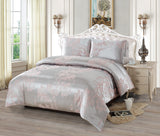 JA44 JACQUARD/300 THREAD COTTON BEDDING SET (CHANNEL INFUSION)