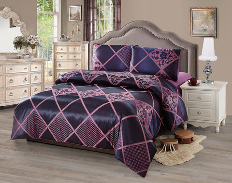 JA45 JACQUARD/300 THREAD COTTON BEDDING SET (CHANNEL INFUSION)