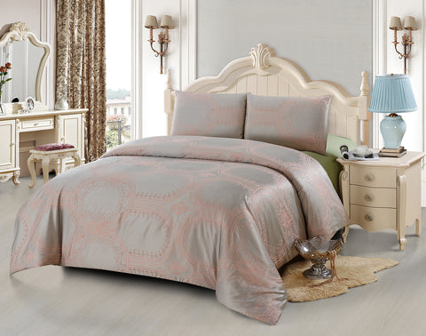 JA47 JACQUARD/300 THREAD COTTON BEDDING SET (CHANNEL INFUSION)