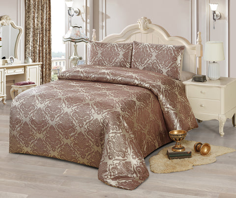 JA49 JACQUARD/300 THREAD COTTON BEDDING SET (CHANNEL INFUSION)