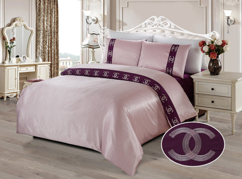 JE05  JACQUARD/300 THREAD COTTON BEDDING SET