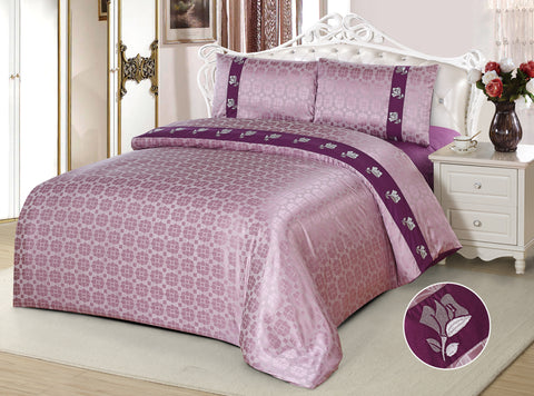 JE06 JACQUARD/300 THREAD COTTON BEDDING SET (CHANNEL INFUSION)