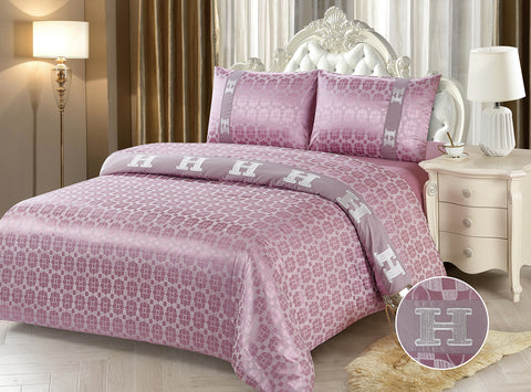 JE09B JACQUARD/300 THREAD COTTON BEDDING SET (CHANNEL INFUSION)