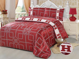 JE09 JACQUARD/300 THREAD COTTON BEDDING SET (CHANNEL INFUSION)