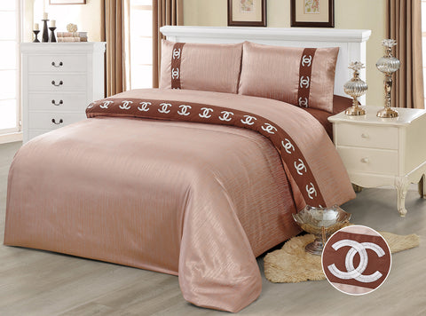 JE11 JACQUARD/300 THREAD COTTON BEDDING SET (CHANNEL INFUSION)
