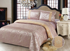 JE12 B  JACQUARD/300 THREAD COTTON BEDDING SET (DIOR INFUSION)