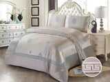 JE13 JACQUARD/300 THREAD COTTON BEDDING SET (GUCCI  INFUSION)