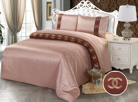 JE14 JACQUARD/300 THREAD COTTON BEDDING SET (CHANNEL INFUSION)