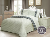 JE17 JACQUARD/300 THREAD COTTON BEDDING SET (ARMANI  INFUSION)