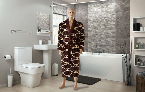 RM-4  BAMBOO ROBES FOR MEN (brown)