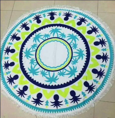 MMT -05 BEACH ROUND MAT-TOWEL
