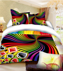 MP15 MICROFIBER/  300 THREAD  COTTON BEDDING SET