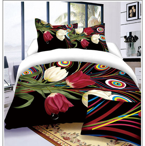 MP20 MICROFIBER/  300 THREAD  COTTON BEDDING SET