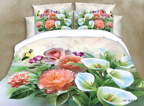MP43 MICROFIBER/  300 THREAD  COTTON BEDDING SET