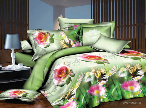 MP53 MICROFIBER/  300 THREAD  COTTON BEDDING SET