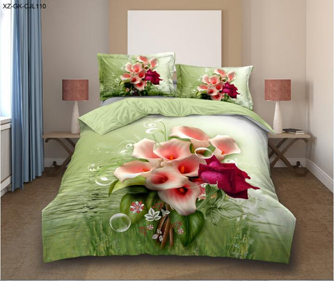 MP70 MICROFIBER/  300 THREAD  COTTON BEDDING SET