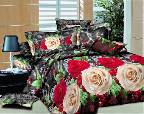 SA03 SILK/300 THREAD COTTON BEDDING SET (CHANNEL INFUSION)