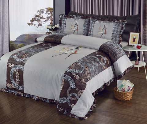 ST052P CHANNEL INFUSION 600 THREAD COTTON BEDDING SETS