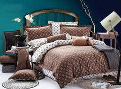 ST086  LV INFUSION , 600 THREAD COTTON BEDDING SET