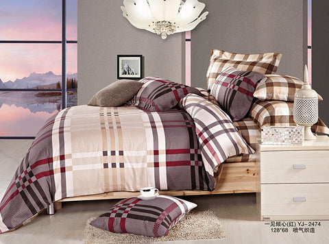 ST149 BURBERRY  INFUSION , 600 THREAD COTTON BEDDING SET