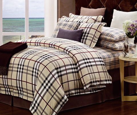 VA09  BURBERRY  INFUSION , 600 THREAD COTTON BEDDING SET