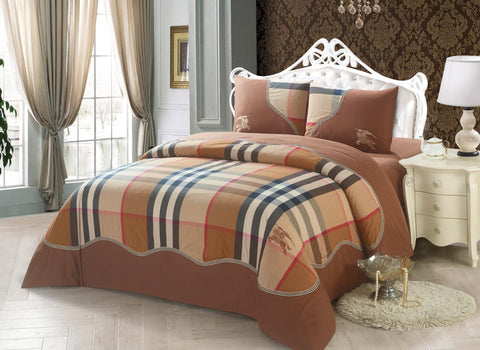 YD01P  BURBERRY  INFUSION , 600 THREAD COTTON BEDDING SET
