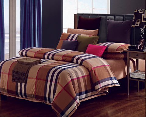 YD01 BURBERRY  INFUSION , 600 THREAD COTTON BEDDING SET