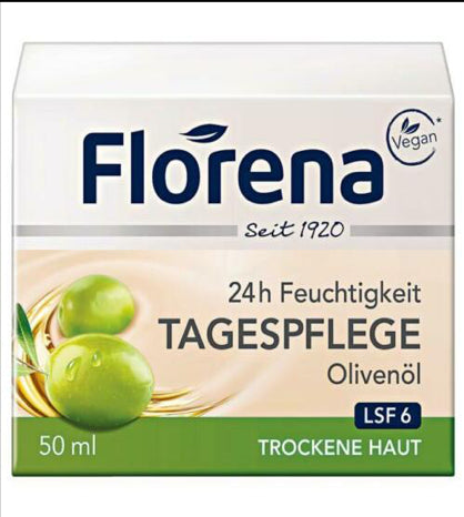 Florena ORGANIC Day Cream:( Olive Oil with SPF 6) (39)