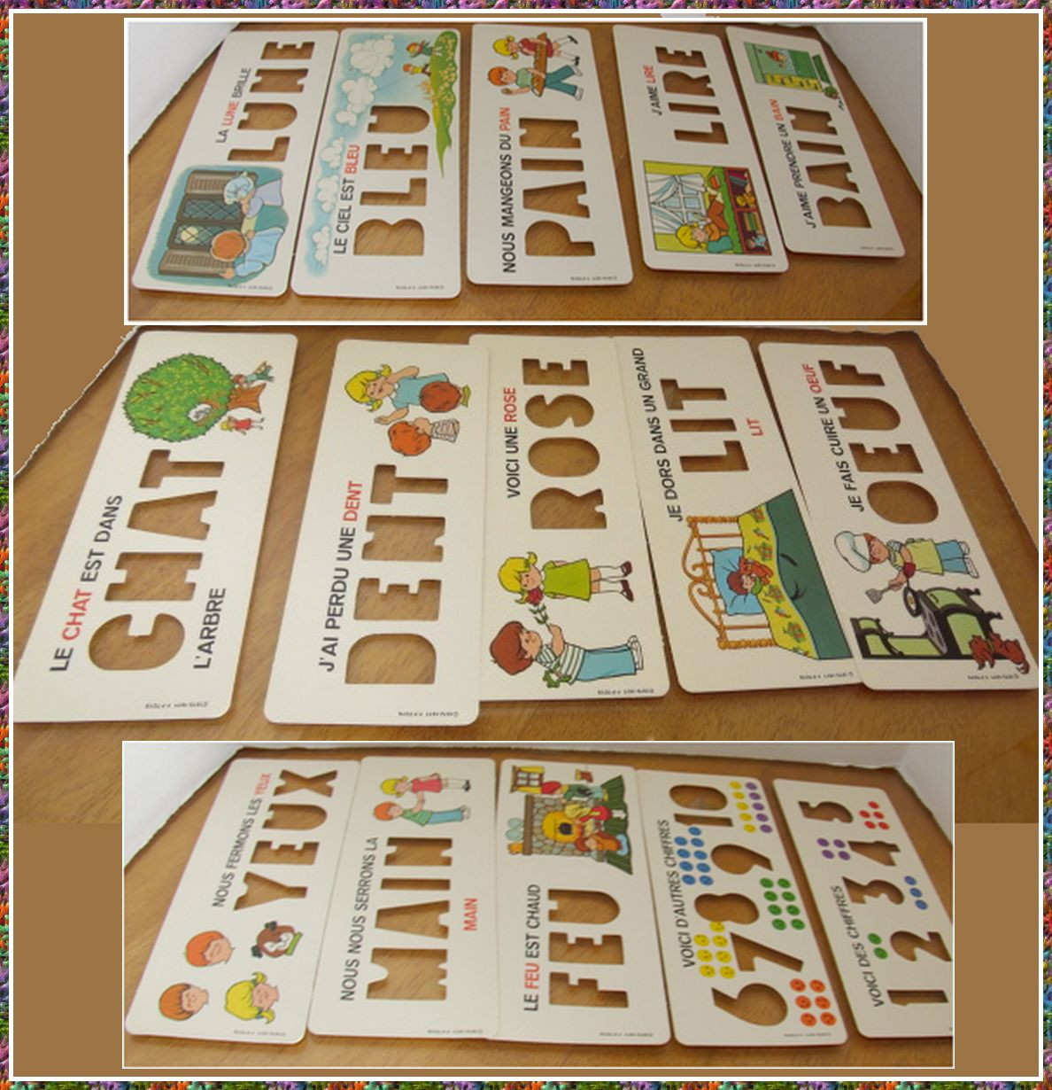 Fisher Price Little People School Desk Near Mint French Cards