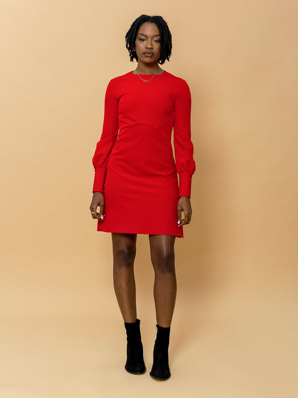 Bria Dress in Cherry