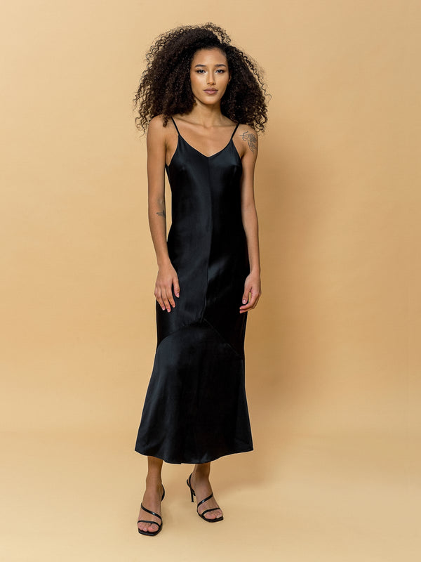 Paige Midi Dress in Black