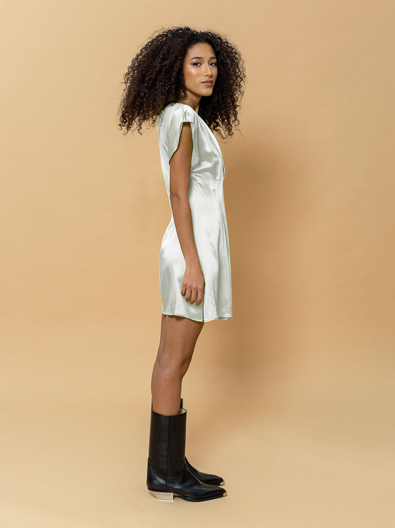 Rhianna Mini Dress in Champagne