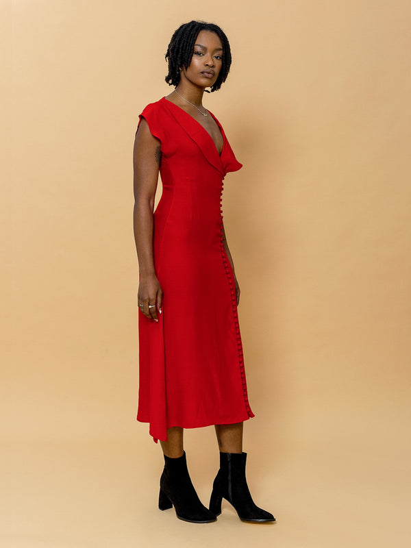 Rhianna Dress in Cherry