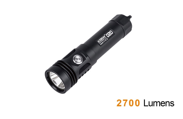 Acebeam D20 LED diving flashlight--2700 lumens