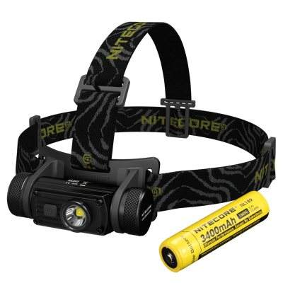 NITECORE HC60 RECHARGEABLE LED HEADLAMP--1000 LUMEN (3400MAH 18650 BATTERY Included)