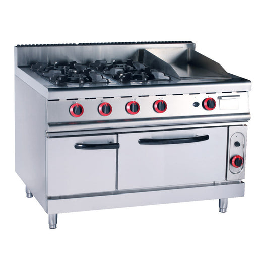 4 Burner Gas Range With Griddle & Electric Oven (Classic 900 Series)