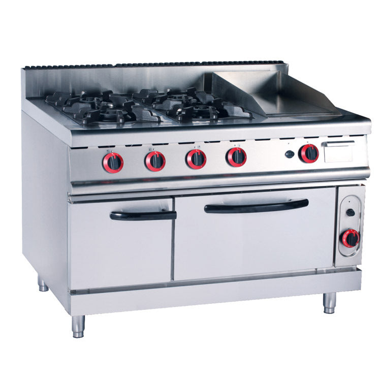 4 Burner Gas Range With Griddle & Electric Oven (Classic 700 Series)