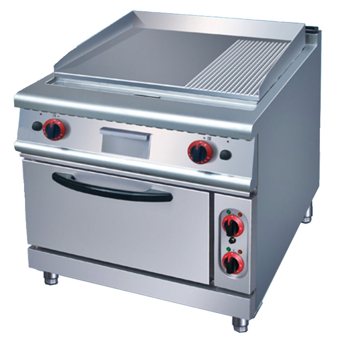 1/3 Grooved & 2/3 Flat Electric Griddle With Electric Oven (Classic 900 Series)