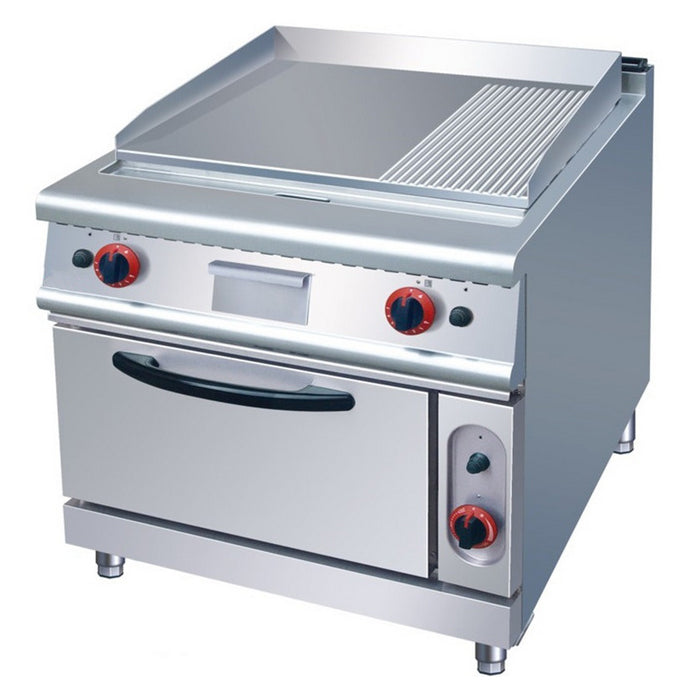 1/3 Grooved & 2/3 Flat Electric Griddle With Electric Oven (Classic 700 Series)