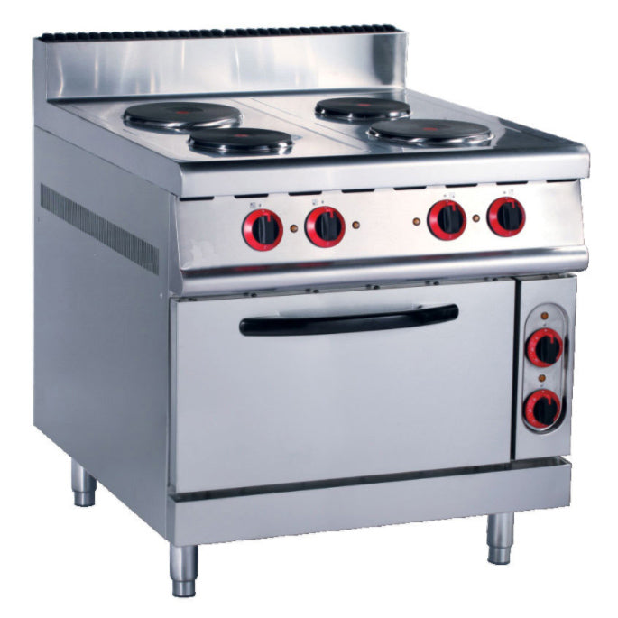 Electric 4 Hot-Plate Cooker (Round Plate) With Electric Oven (Classic 900 Series)