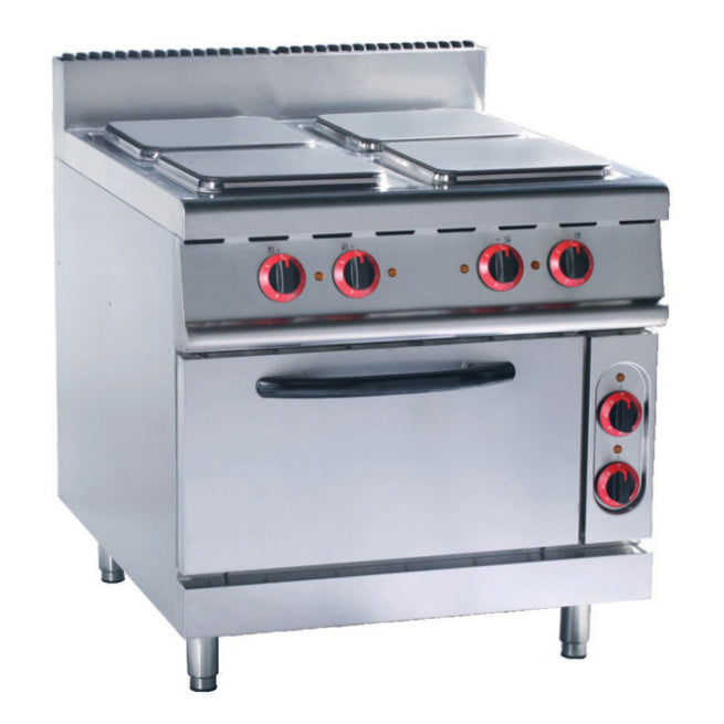 Electric 4 Hot-Plate Cooker (Square Plate) With Electric Oven (Classic 900 Series)