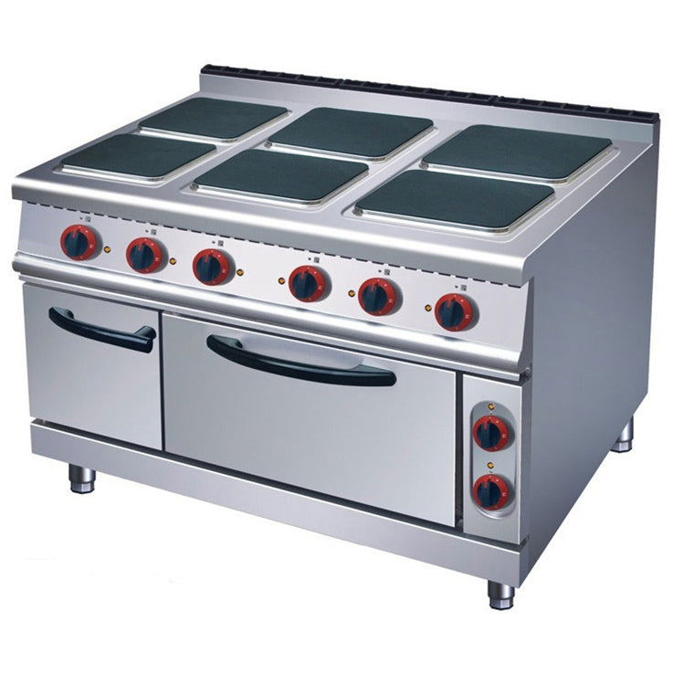 Electric 6 Hot-Plate Cooker (Square Plate) With Electric Oven (Classic 900 Series)