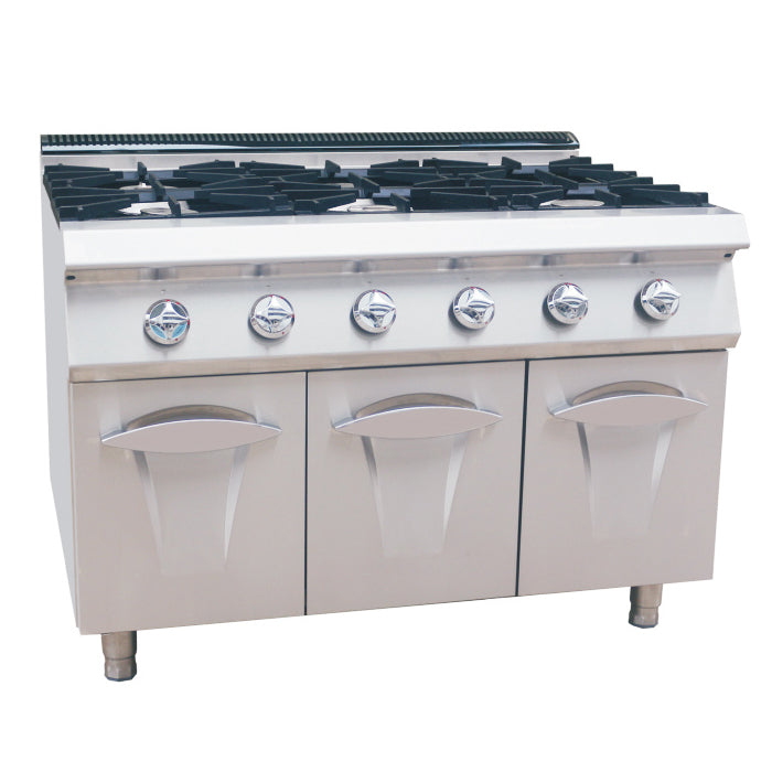 6 Burner Gas Range With Cabinet (Luxury 900 Series)