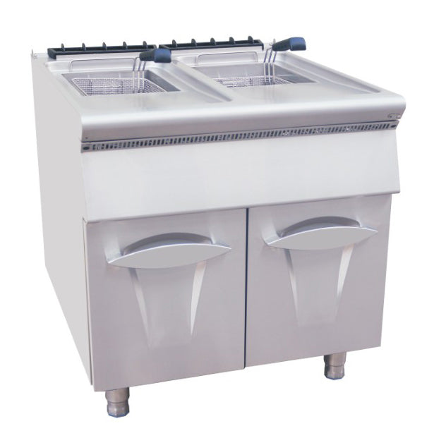 Gas 2 Tank Fryer With Cabinet (Luxury 900 Series)