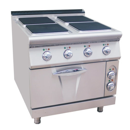 Electric 4 Hot-Plate Cooker (Square Plate) With Electric Oven (Luxury 900 Series)