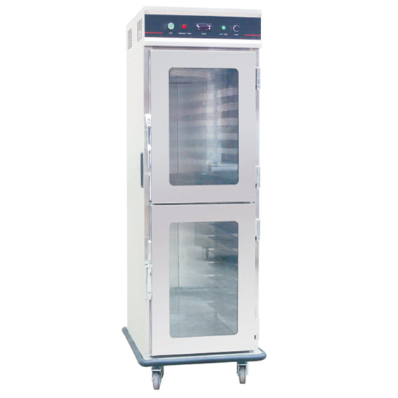 Electric Food Warmer Cart With Double Glass Door - 15 Tier / Bakery Tray*15