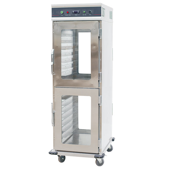 Electric Food Warmer Cart With Four Glass Door - 15 Tier / GN1/1*30